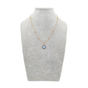 Miyuki Women's Necklace Pendant Devil's Eye Totem Ornament NHGW185609's discount tags