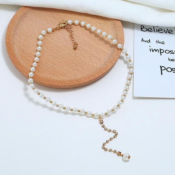 Hot Sale Fashion Pearl Necklace Sweater Chain Fashion Women Necklace NHBQ185428