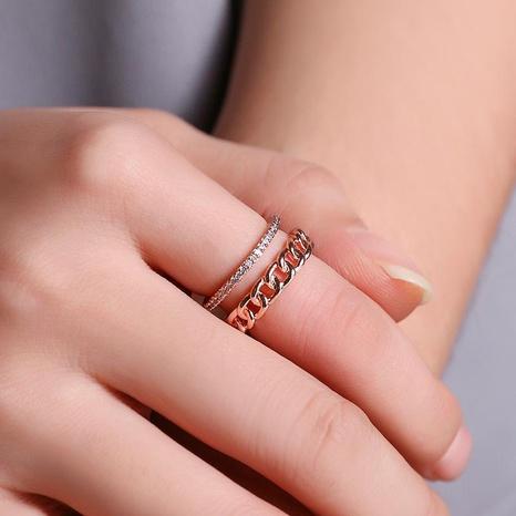 Nouvelle bague diamant ouvert avec taille réglable NHDP185759's discount tags