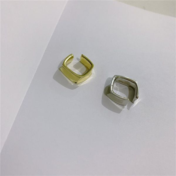 Male and female personality hip hop street style ring simple metal opening NHYQ185690