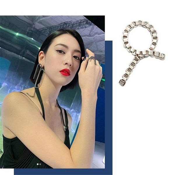Curve temperament weeping willow ring senior snake bone chain chain ring women NHYQ185718