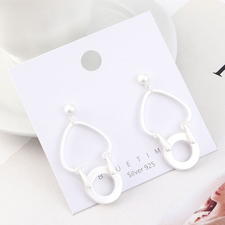 Fashion earrings wholesale real gold plated heart-shaped small circle hollow S925 silver earrings NHPS185100's discount tags
