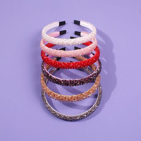 Headband female crystal diamond simple wild exaggerated hairpin adult headdress NHMD185484's discount tags