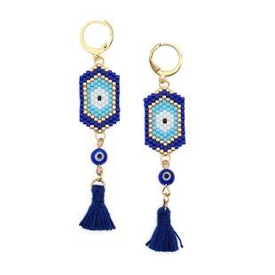 Personalized fashion weaving MIYUKI Mizhu Devil's Eye ladies earrings NHGW185593's discount tags