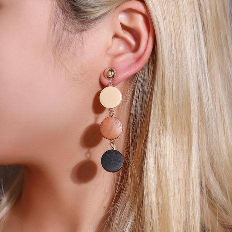 Korean fashion earrings creative wooden tassel earrings female color long wooden earrings NHDP185736's discount tags