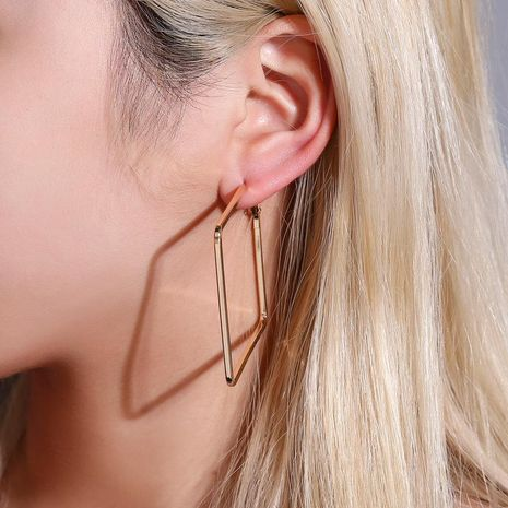 Best selling earrings simple wild geometric diamond earrings creative square earrings wholesale NHDP185740's discount tags