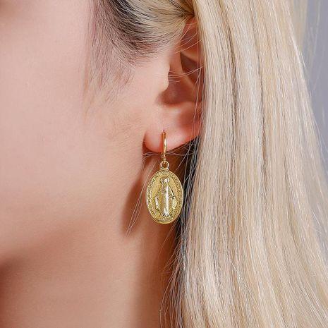 New Trend Retro Virgin Mary Earrings Fashion Metal Earrings Idol Earrings NHDP185744's discount tags