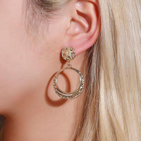 New Geometric Earrings Fashion Bump Round Earrings Geometric Hollow Earrings Wholesale NHDP185746's discount tags