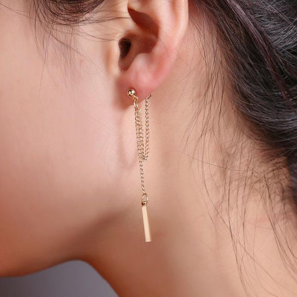 wholesale new earring fashion long fringed earrings Korean simple chain earrings NHDP185734