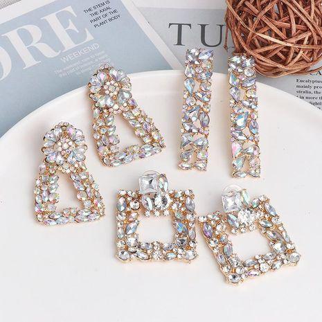 Geometric Hot Earrings Colorful Alloy Diamond Earrings NHJJ185397's discount tags