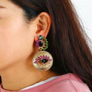 Devil's Eye Earrings Alloy Tassel Diamond Turkey Blue Eye Stud Earrings NHKQ185445's discount tags