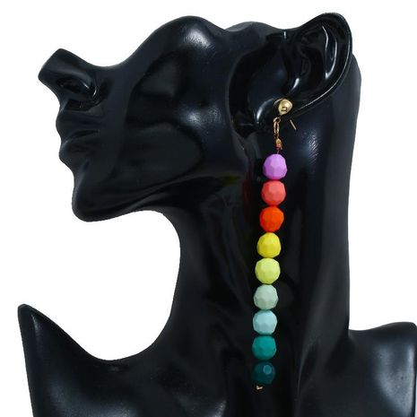 Amazon cross-border hot sale color beads link aretes largos boho fashion pendientes femeninos NHBQ185417's discount tags