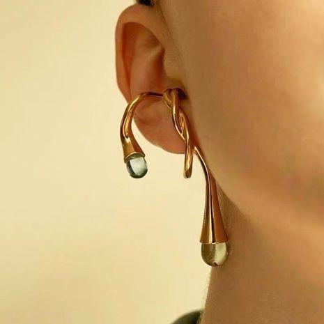 Transparent crystal earrings twisted hemp twine geometric irregular personality earrings women NHYQ185705's discount tags