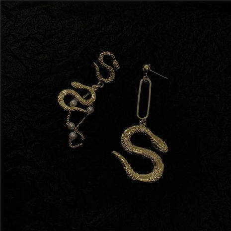Personalized creative design asymmetric earrings NHYQ185710's discount tags