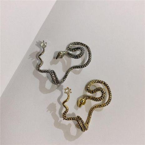 Ear pierced earrings earrings snake body earring copper earrings NHYQ185716's discount tags