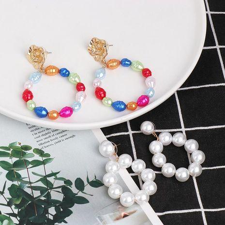 Fashion Shaped Pearl Earrings Beaded Earrings NHJJ185395's discount tags