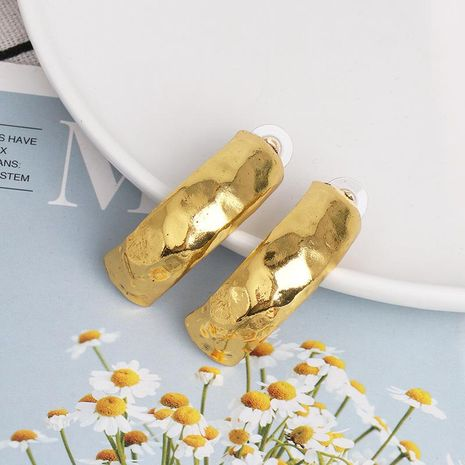 New alloy simple C-shaped earrings temperament wild metal earrings NHJJ185400's discount tags