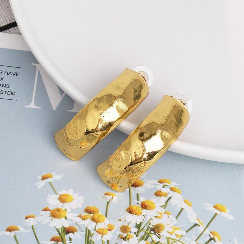 New alloy simple C-shaped earrings temperament wild metal earrings NHJJ185400