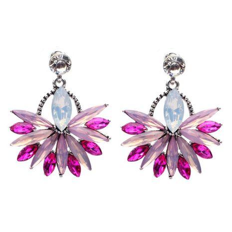 Temperament Alloy Diamond Flower Wild Earrings Wholesale NHJJ185403's discount tags