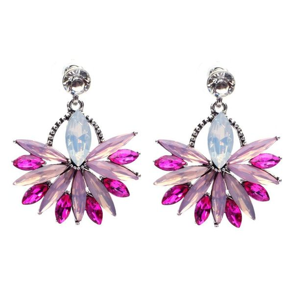 Temperament Alloy Diamond Flower Wild Earrings Wholesale NHJJ185403