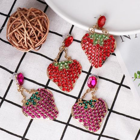 Crystal stud earrings with alloy earrings NHJJ185406's discount tags
