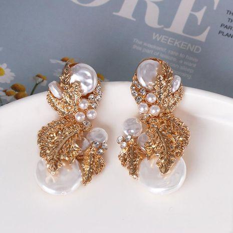 Fashion gold-plated retro earrings pearl drop earrings NHJJ185405's discount tags