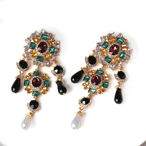 Women's Baroque color stud earrings NHJJ185407's discount tags
