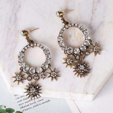 Women's Baroque Water Drop Diamond Stud Earrings NHJJ185408's discount tags