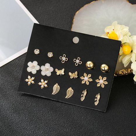 Earrings set regular circle geometric earrings mujer exaggerated retro NHSD185617's discount tags