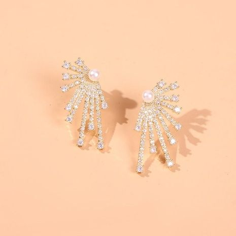 Magnesium Radial Firework Diamond Fashion Earrings NHMD185471's discount tags