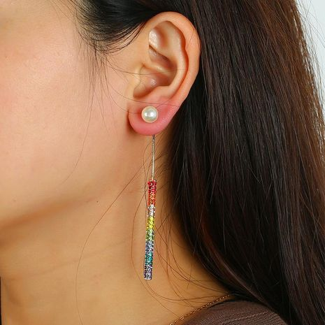Earring fashion jewelry simple long claw chain earrings wholesale NHKQ185455's discount tags