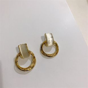 Korean cold wind geometry S925 silver needle multi-layer metal circle earrings women NHYQ185659's discount tags