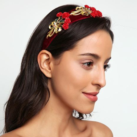 New Baroque vintage gold velvet headband accessories NHMD185458's discount tags