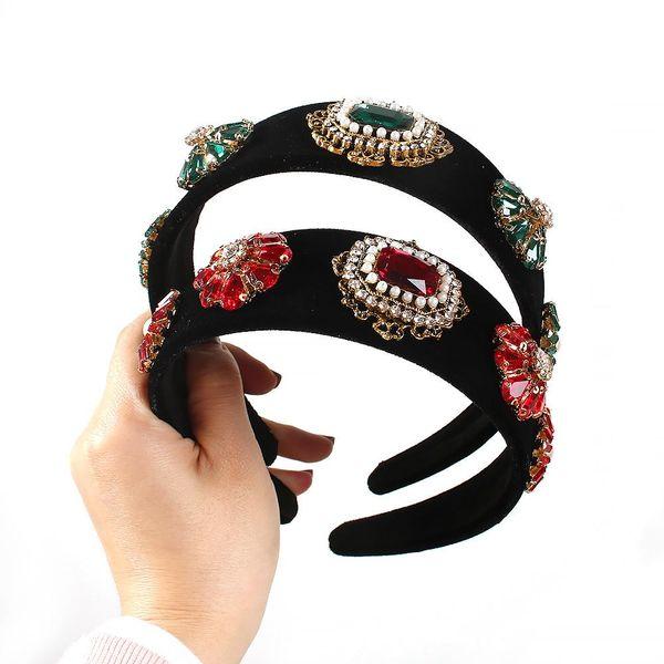 Lobak nueva diadema de moda de lujo perla diamante gema tocado de estilo nacional NHMD185475