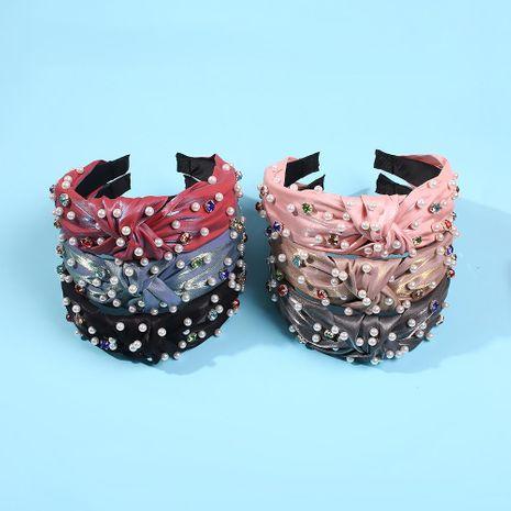 Headband female simple non-slip pearl headband fresh wild hair accessories NHMD185487's discount tags