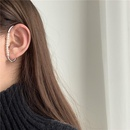 Creative iron cable buckle combined with pearl geometry single ear hook simple and unique without piercings NHYQ185704