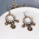 Womens Baroque Water Drop Diamond Stud Earrings NHJJ185408