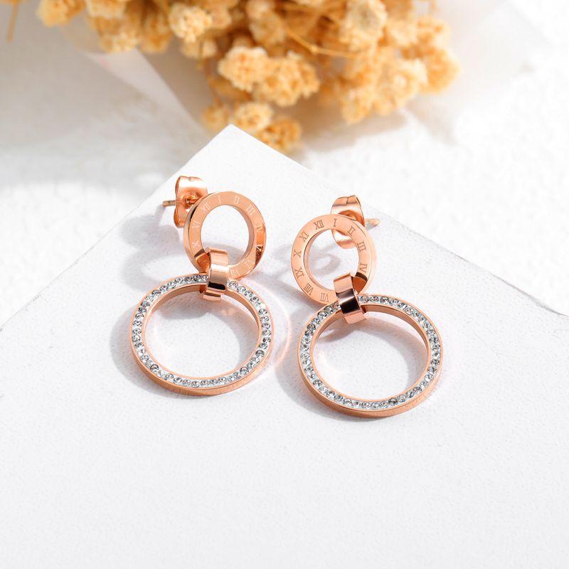Titanium&Stainless Steel Fashion Geometric earring  (Stud earring)  Fine Jewelry NHOP3180-Stud-earring