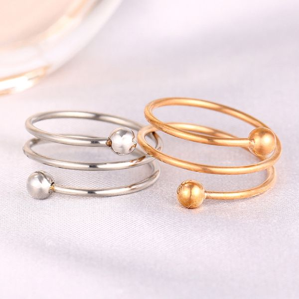 Titanium&Stainless Steel Fashion  Ring  (Steel color-6)  Fine Jewelry NHIM1605-Steel-color-6