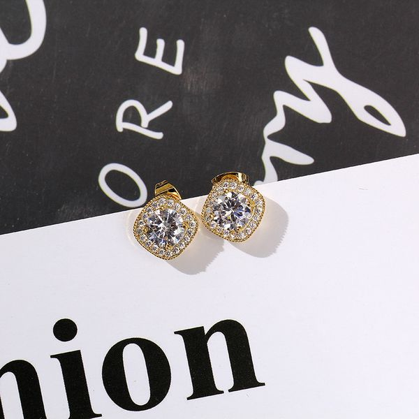 Zircon Vintage Geometric earring  (Alloy)  Fashion Jewelry NHIM1629-Alloy
