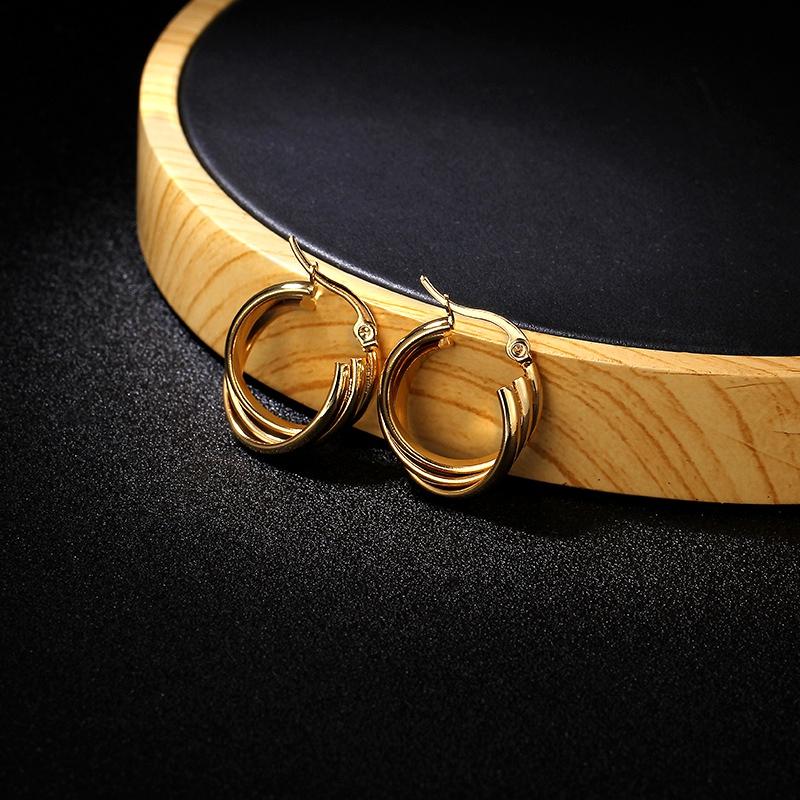 Titanium&Stainless Steel Fashion Geometric earring  (Alloy 2.0cm)  Fine Jewelry NHIM1679-Alloy-2.0cm