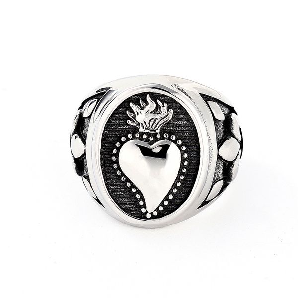 Titanium&Stainless Steel Fashion  Ring  (Steel color-8)  Fine Jewelry NHIM1687-Steel-color-8