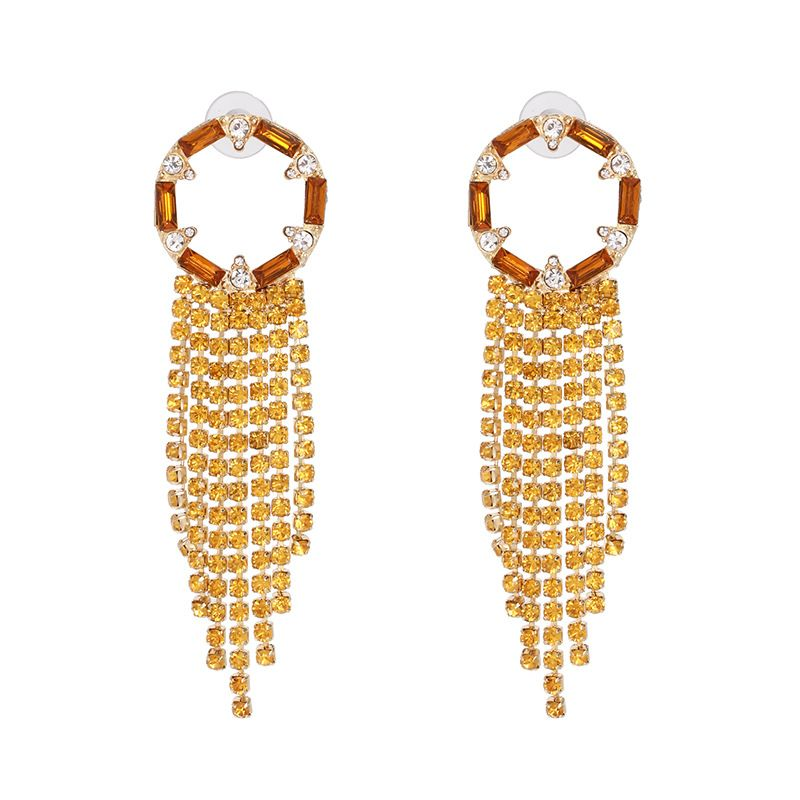 Alloy Fashion Tassel earring  (yellow)  Fashion Jewelry NHJJ5568-yellow
