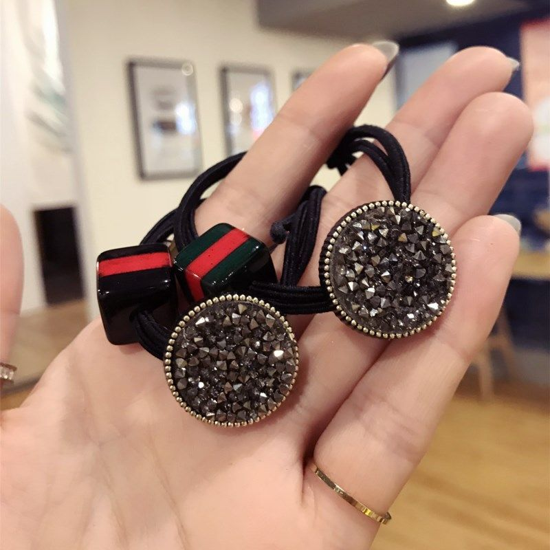 Cloth Korea Bows Hair accessories  Black square  Fashion Jewelry NHSM0374Blacksquare