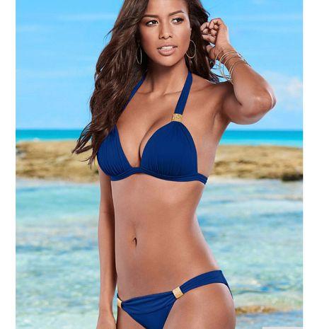 Bikini Fashion Polyester (Royal Blue-S) Femme Vêtements NHHL0911-Royal-Blue-S's discount tags