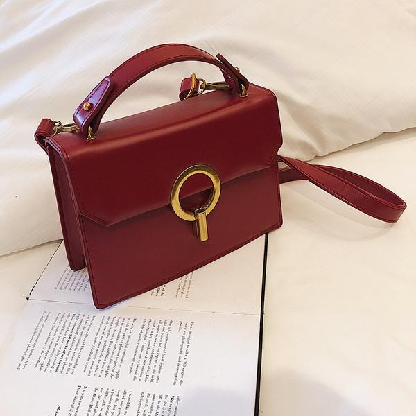 PU Korea  Shoulder bag  (red)  Fashion Bags NHLD1595-red