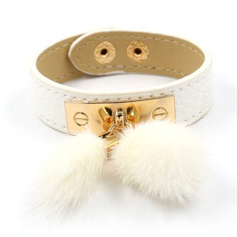 Leather Fashion Geometric bracelet  (white)  Fashion Jewelry NHHM0001-white's discount tags
