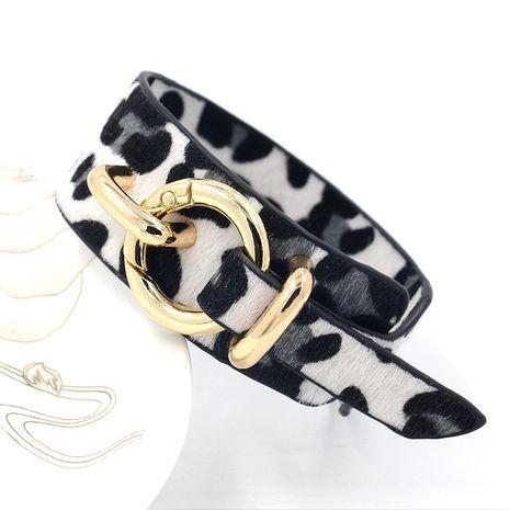 Leather Fashion Animal bracelet  (white)  Fashion Jewelry NHHM0005-white's discount tags