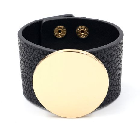 Leather Korea Geometric bracelet  (black)  Fashion Jewelry NHHM0006-black's discount tags