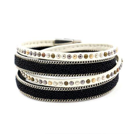 Leather Korea Geometric bracelet  (black)  Fashion Jewelry NHHM0009-black's discount tags